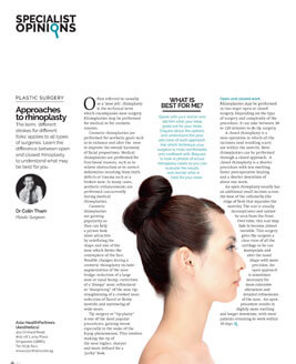 Approaches To Rhinoplasty