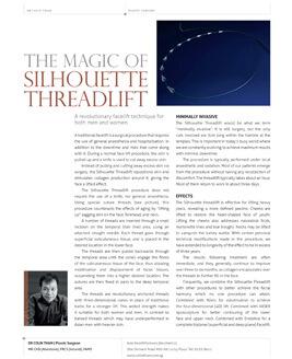 The Magic Of Silhouette Threadlift